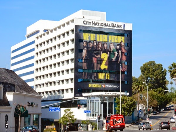 Giant Pitch Perfect 2 billboard