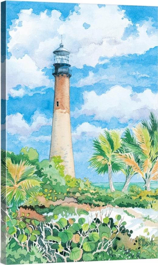 Florida Lighthouse Art Paintings Canvas Prints