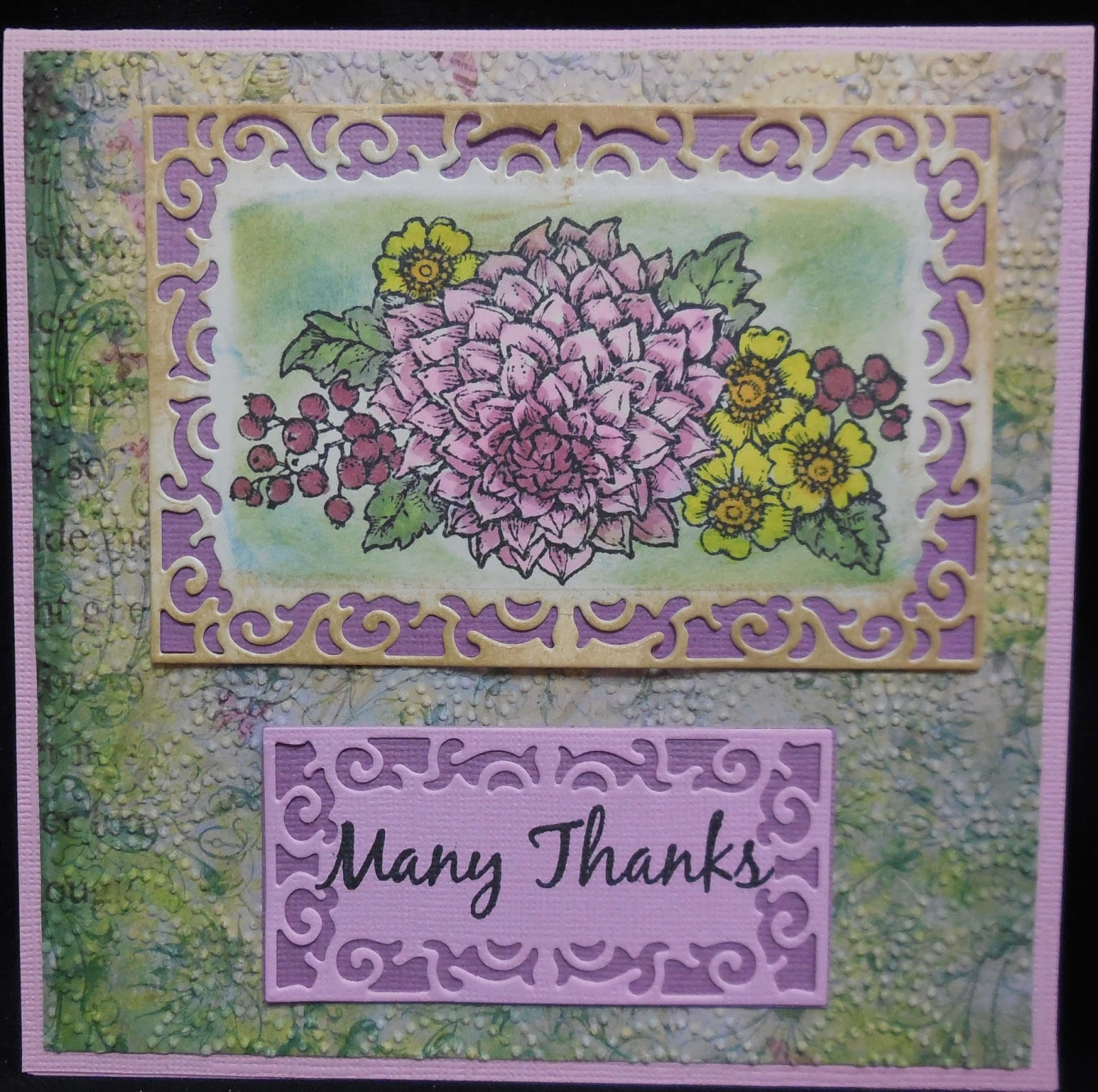 Karen's Kreations: Thank You Cards For My Sister