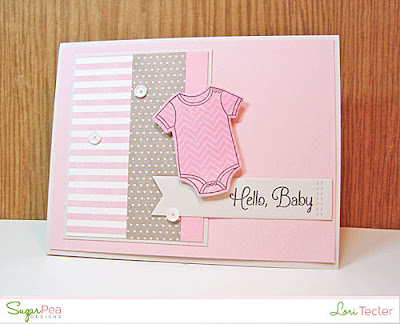 Hello, Baby card-designed by Lori Tecler/Inking Aloud-stamps and dies from SugarPea Designs