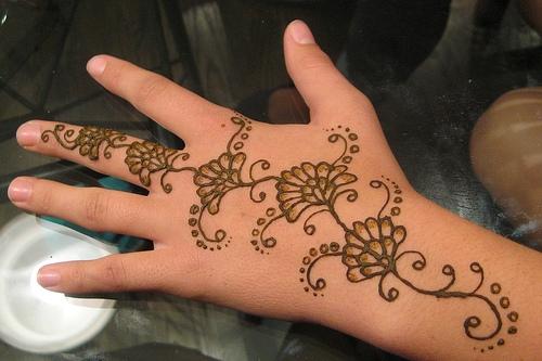 Contoh Gambar Henna Simple Untuk Pemula