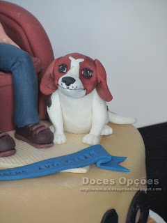 dog sugarpaste fondant