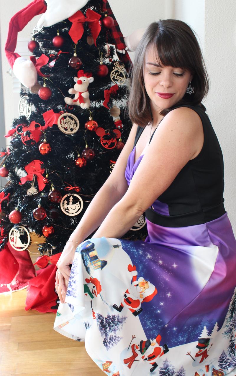 Vestido morado Navidad