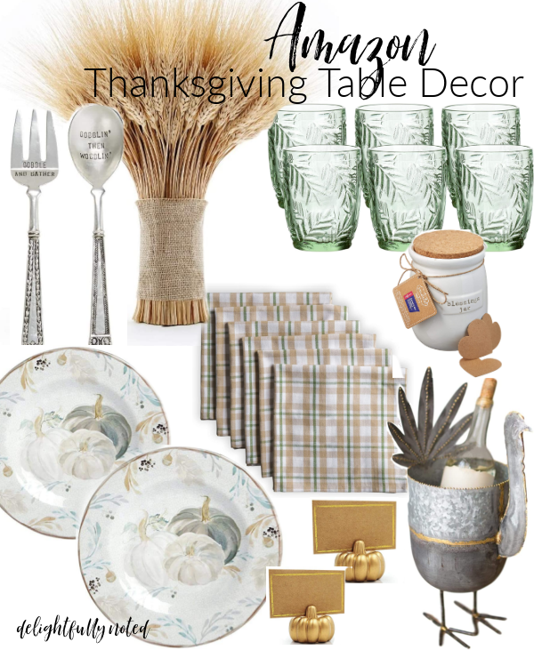 thanksgiving table decor from Amazon