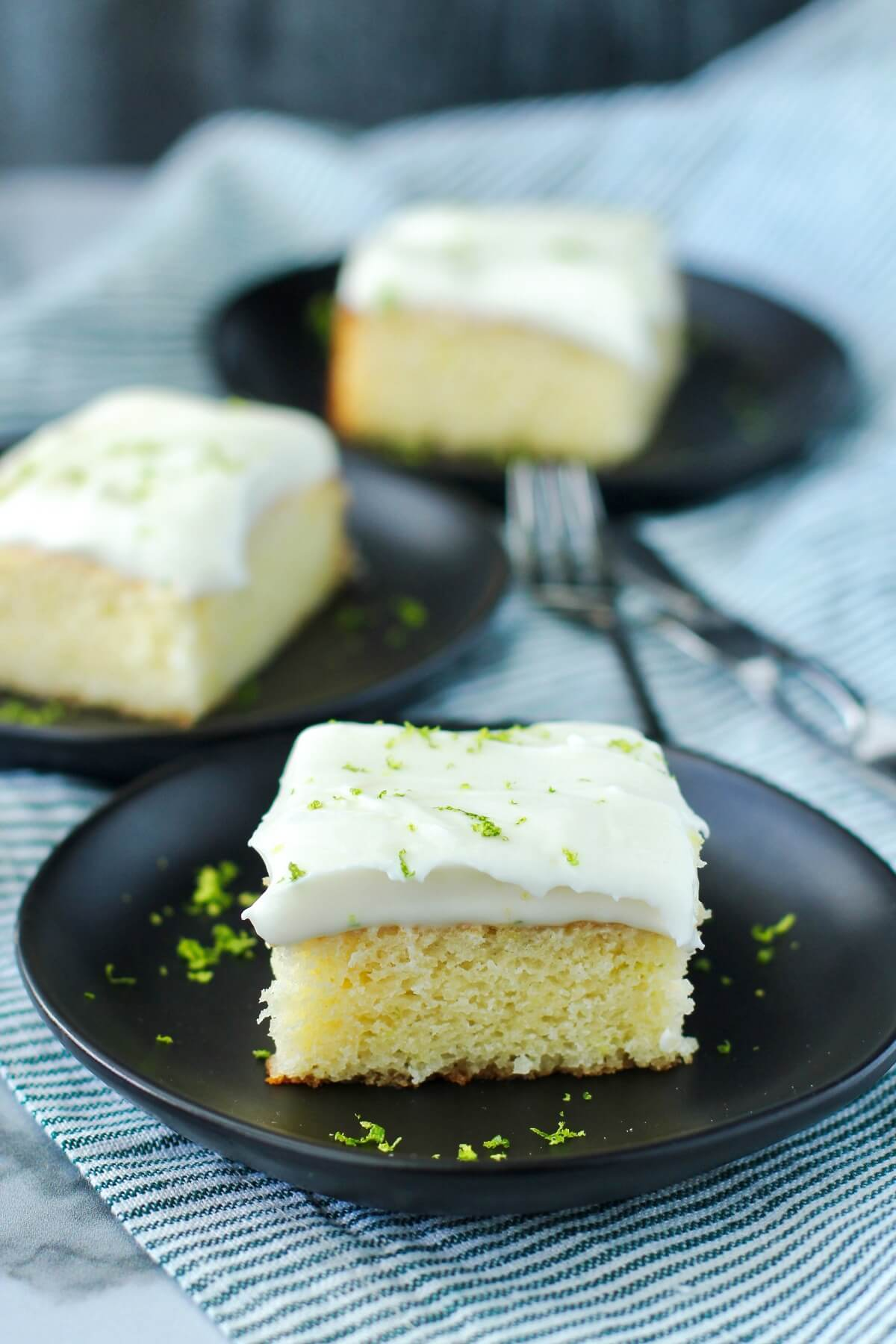Lime cake slices
