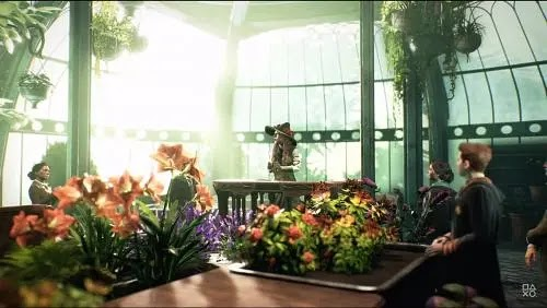 Herbology classes in Hogwarts in 'Hogwarts Legacy' (Image Credits: PlayStation/YT)