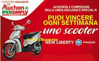Logo Con Kellogg's Special K vinci Scooter Piaggio New Liberty