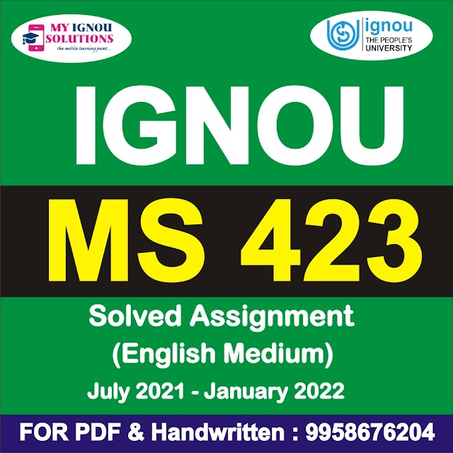 MS 423 Solved Assignment 2021-22