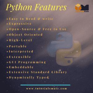 Python Features - TutorialsMate