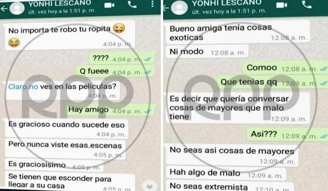 Los comprometedores chats que involucran al congresista Yonhy Lescano