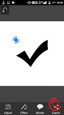 7. Jika sudah hasilnya akan seperti gambar di bawah, tinggal kalian atur saja posisi dan ukuran simbol nya