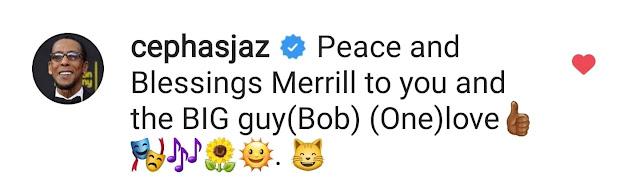 Ron-Cephas-Jones-comments-Merrill-Weber's-Instagram-post