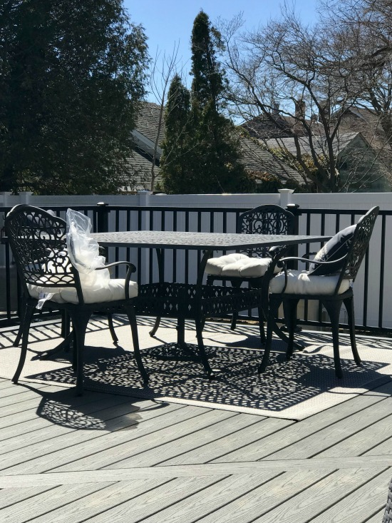 Patio furniture ideas on a new Trex deck
