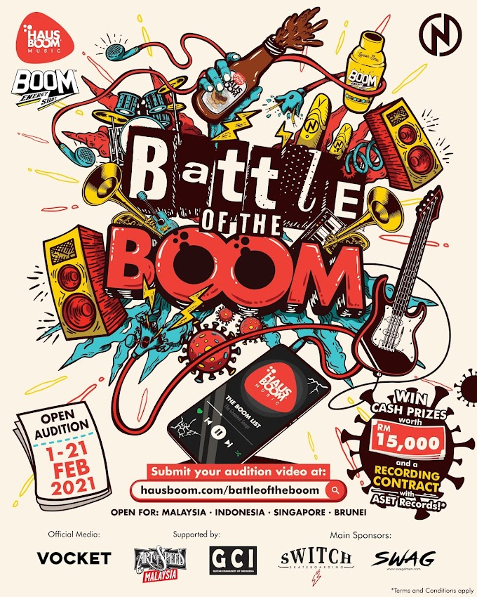 "BAND ""BATTLE OF THE BOOM "" di buka di negara Indonesia - Malaysia - Singapore - Brunei 