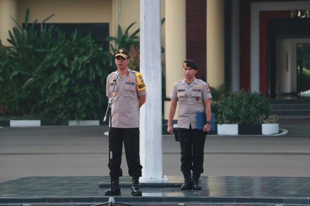 Wakapolda Banten Pimpin Apel Pagi : Laksanakan Tugas Pelayanan Sebagai Ibadah kepada allah swt