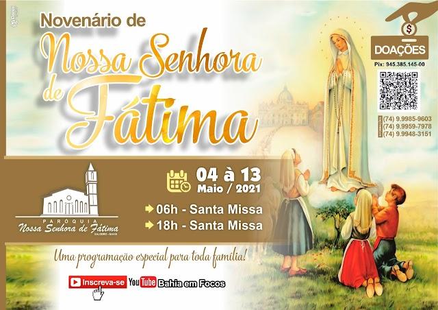 Missas durante o Novenário de Nossa Senhora de Fátima Padroeira da Paroquia de Salobro no Município de Canarana Bahia