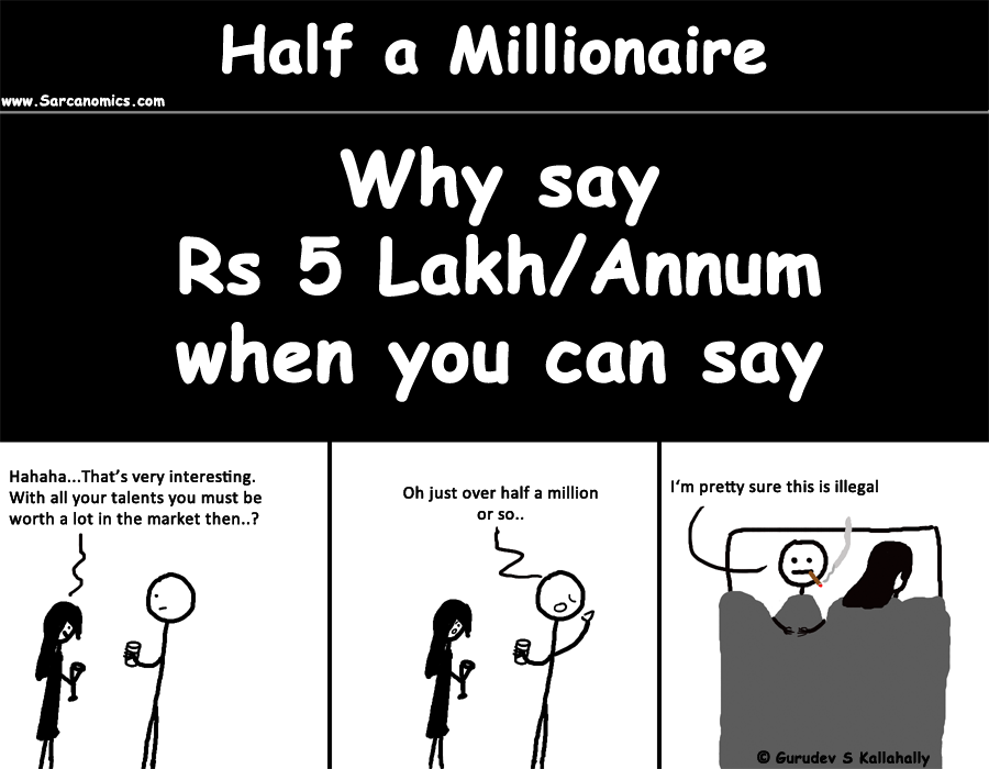 "Better to say half a million than 500,000. Much better to say ""Half a million"" instead of ""Rs 5 Lakh""."