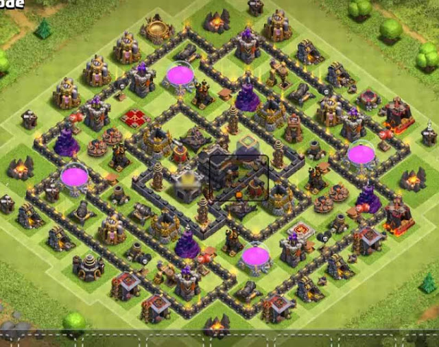 Base COC TH9 Trophy 8