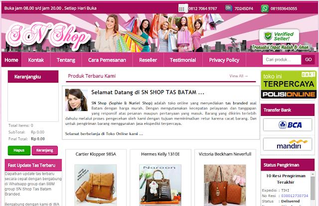 Desain Template Toko Online Tas (Blogger) - Jasa Pembuatan ...