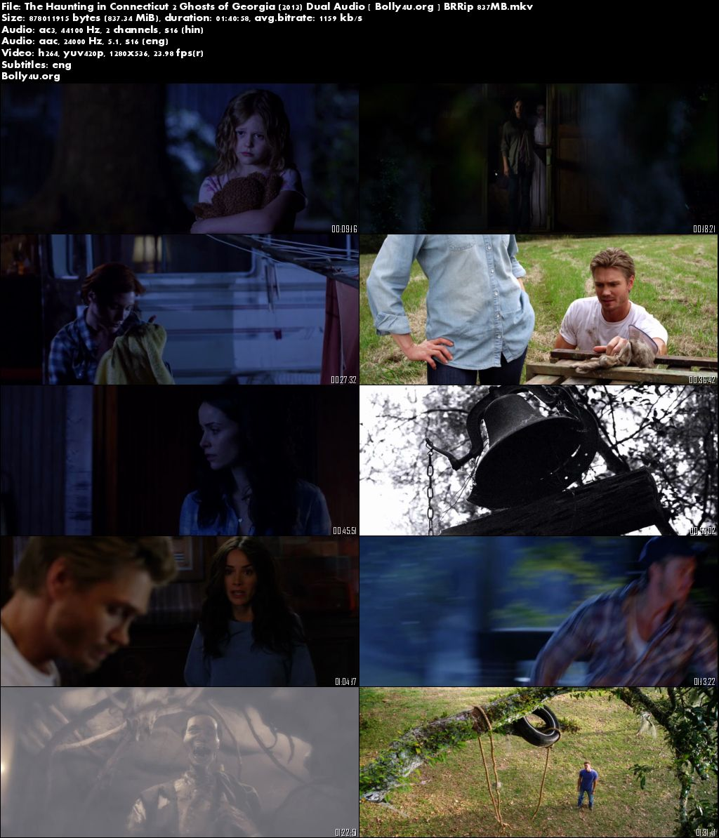 The Haunting in Connecticut 2 (2013) BRRip Hindi 720p Dual Audio 800MB Download