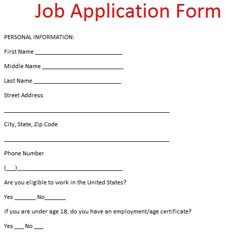 Job Application Form Format livmooretk – Application Format