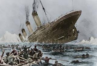 El hundimiento del Titanic a tiempo real