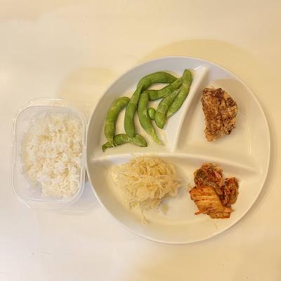 枝豆,ザワークラウト,キムチ