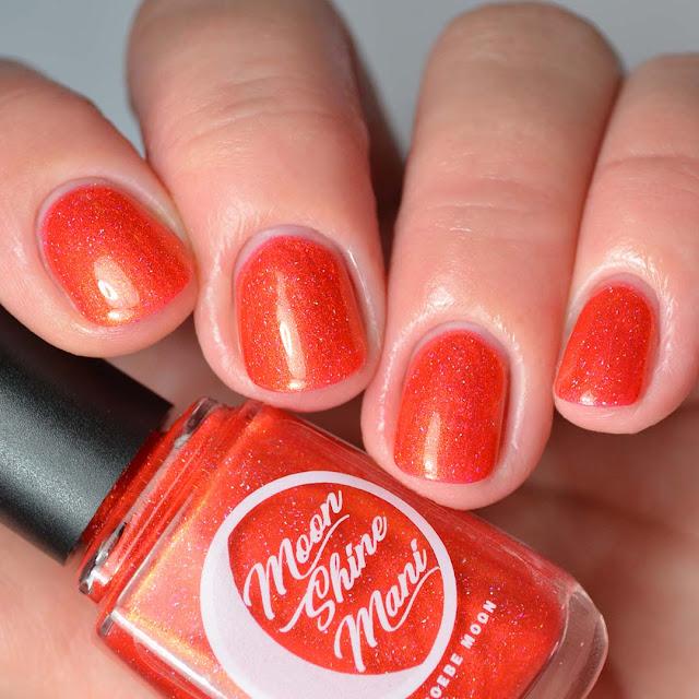 orange jelly shimmer nail polish