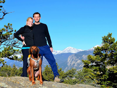Amy and Nick AND Bruzzo the Rhodesian Ridgeback RIP