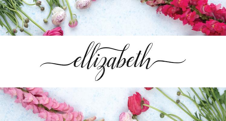 Ellizabeth free signature font preview