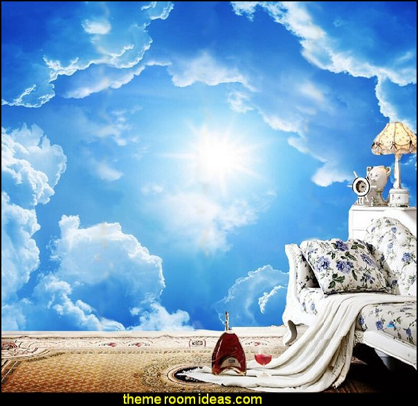 Cloud Theme Decorating Cloud Wallpaper Cloud Murals   Cloud Wall Decal  Stickers