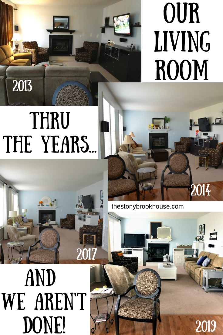 Our Living Room Thru the Years