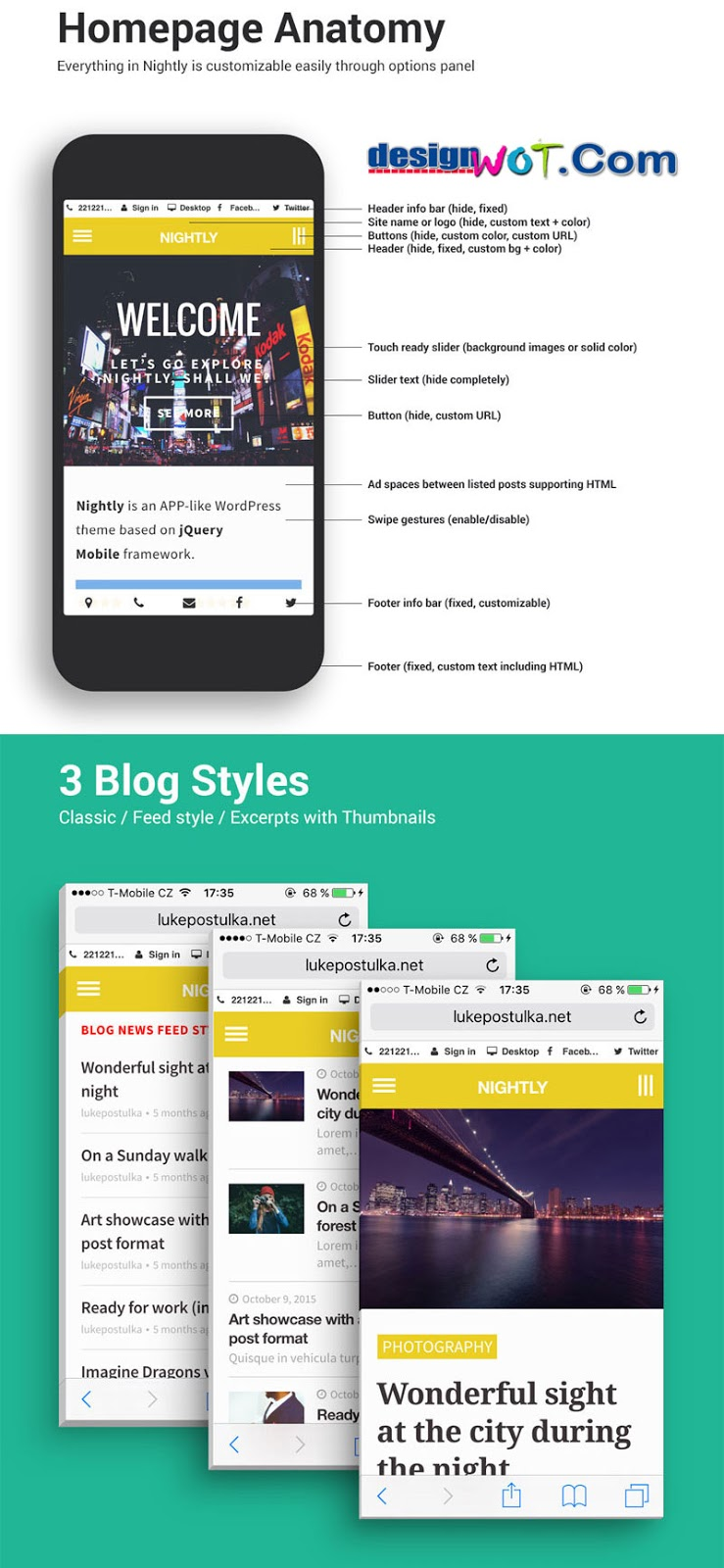 ghtly Mobile | The Ultimate Mobile Theme