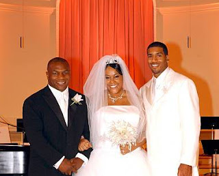 Shawnee Simms with her husband Jackson & Mike Tyson