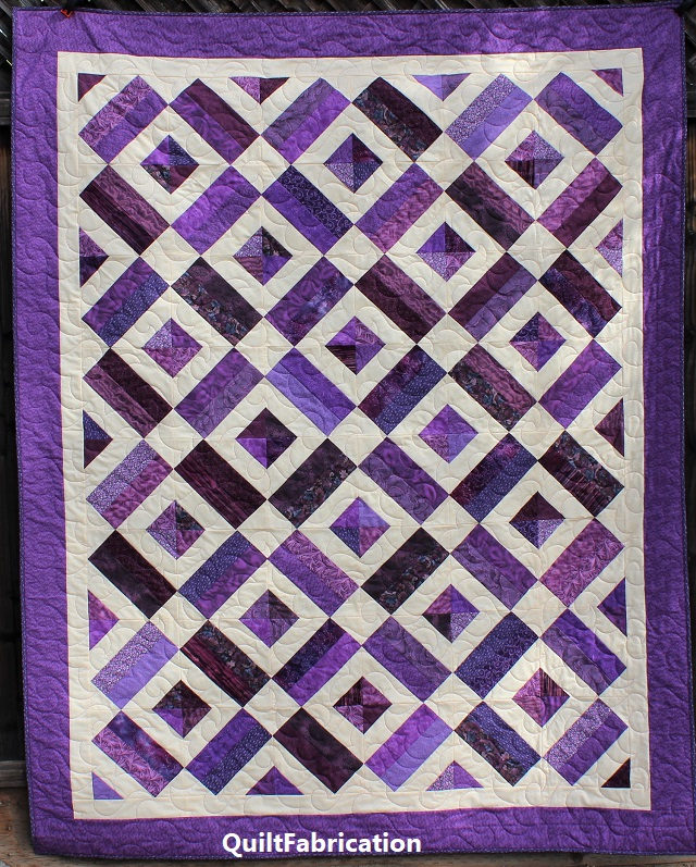 Brick Yard Quilt, Scrappy Version by QuiltFabrication