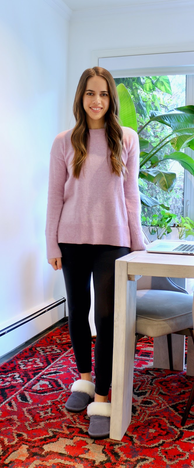 Jules in Flats - Crewneck Tunic Sweater with Leggings (Easy Work from Home Outfit)