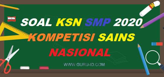 gambar soal KSN SMP 2020