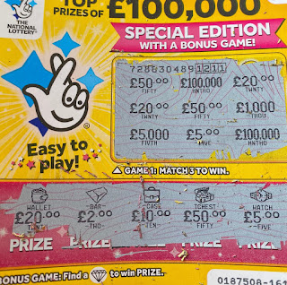 £1 Yellow Scratchcard