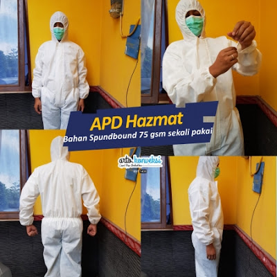 Jual Baju APD Hazmat Coveralls Ready Stok