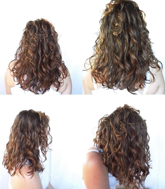 Metamorfozy kręcone włosy