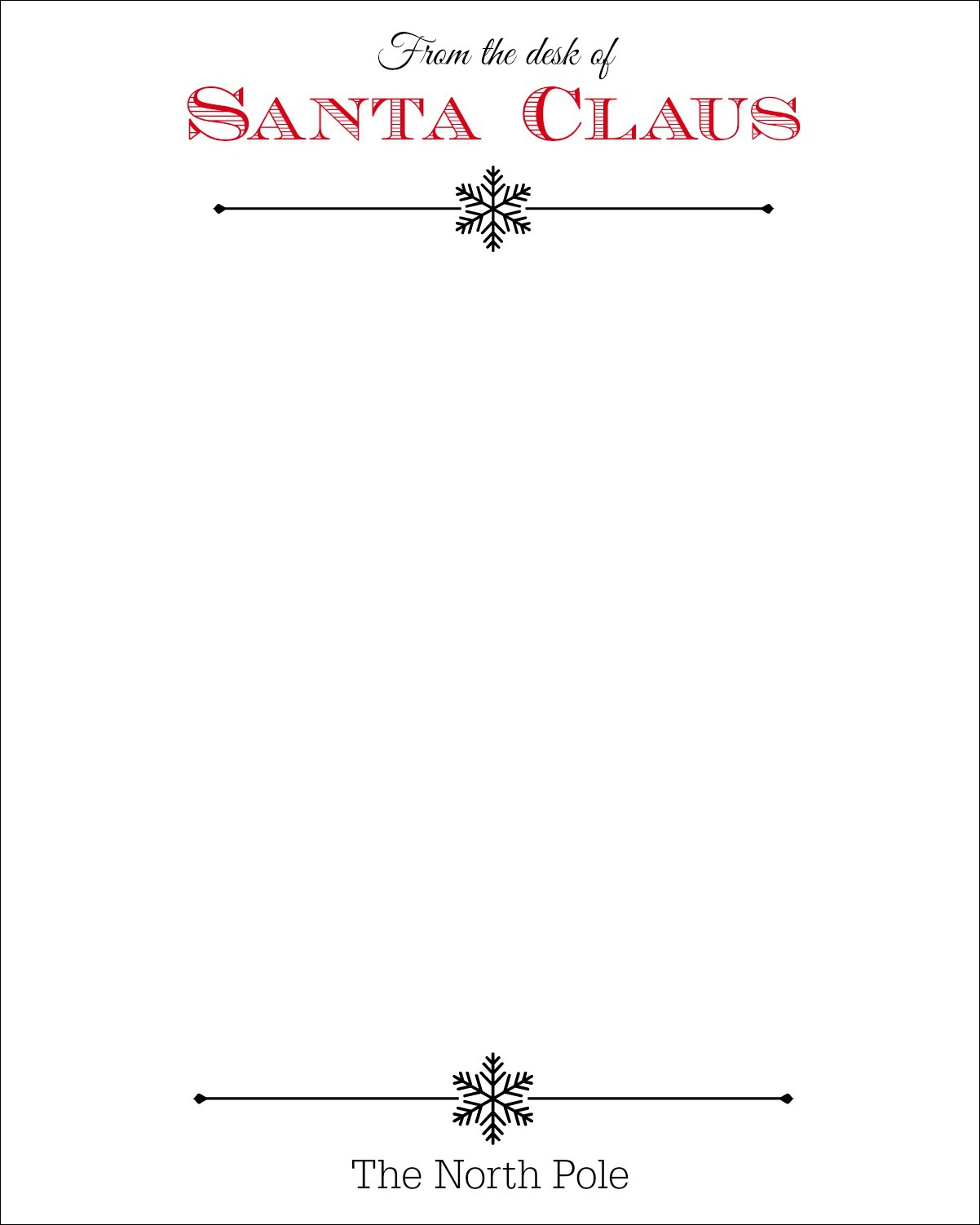 Santa+Claus+Stationary Official Letter From Santa Template Stationery on for word, writing paper,