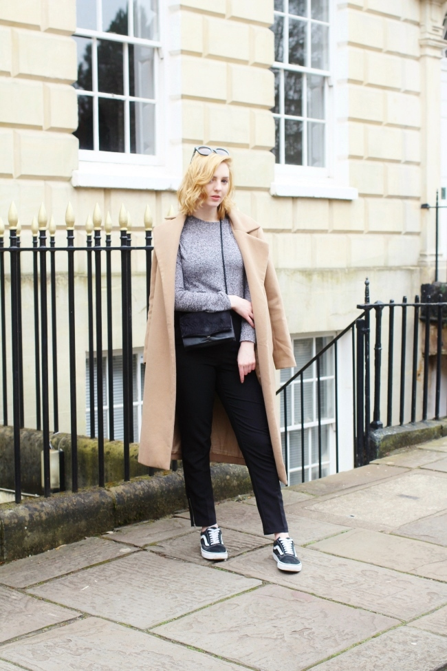 UK, Fashion, Blogger, OOTD, Outfit, Styling, Camel, Coat, Duster, Vans, OldSkool, Missguided, Primark, Céline, Bristol