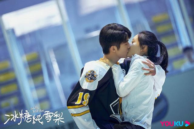 skate into love kiss