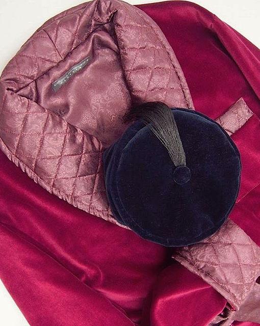 mens smoking cap smoker hat velvet dressing gown robe gentleman vintage style english victorian edwardian