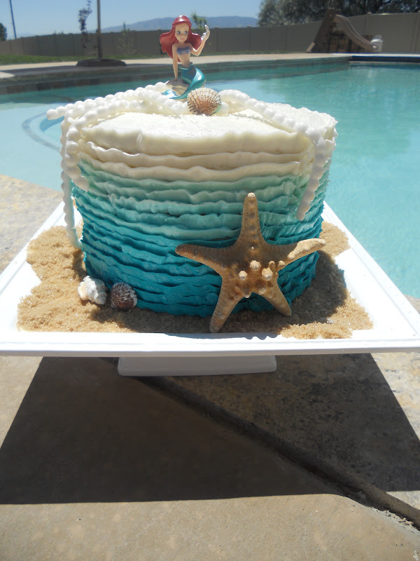 Cakes By Carla Ombre Ariel Birthday Cake