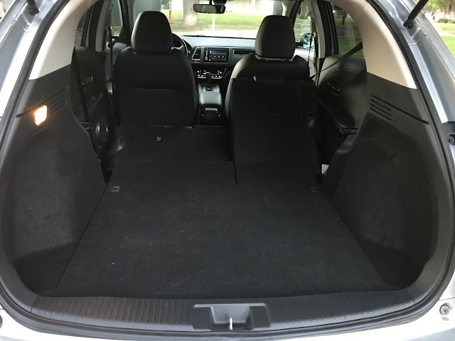 View from open hatch of 2019 Honda HR-V AWD Touring