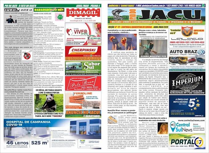 Leia a edição 177 do Jacu - Maio 2020 - Coronavírus