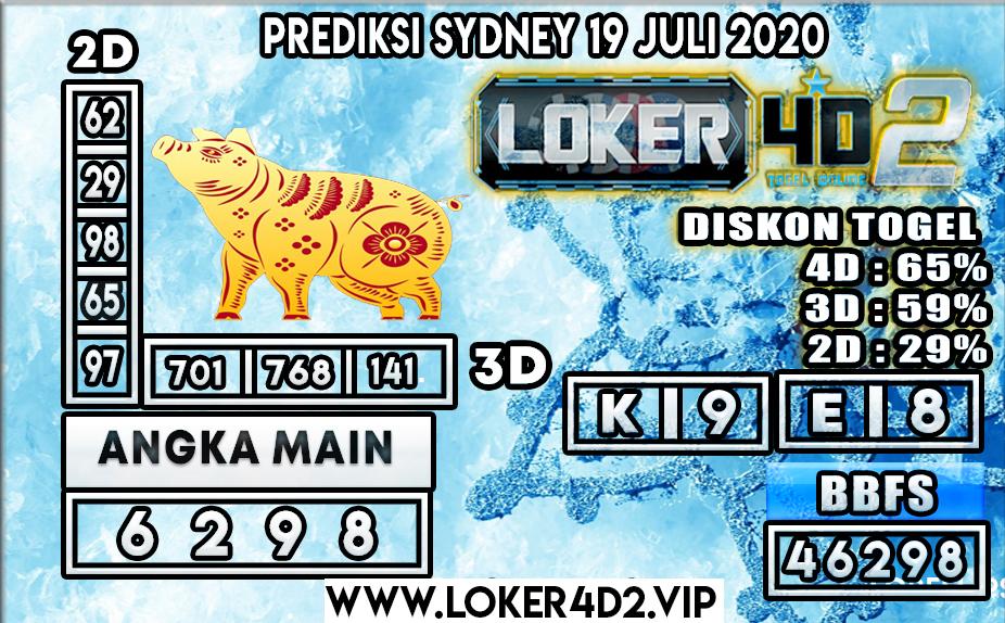 PREDIKSI TOGEL LOKER4D2 SYDNEY 19 JULI 2020