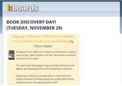 http://blog.kboards.com/2016/11/29/book-discovery-day-tuesday-november-29/