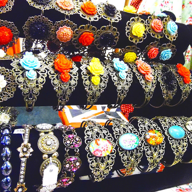 Costume jewellery at lou lou's vintage fair, Cardiff | ACupofT